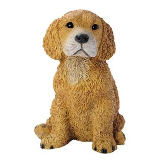 Golden Retriever Puppy Dog Statue   Garden Statues
