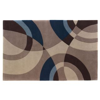 Dynamic Rugs Nolita Collection Handmade Wool Hearth Rug Beige/Blue Sandstorm   Hearth Rugs