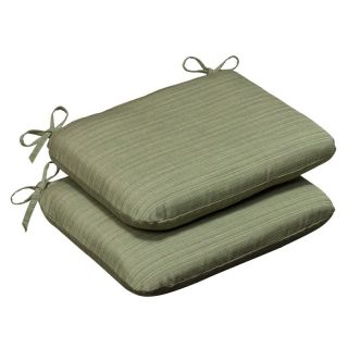 Pillow Perfect Sunbrella Solid Outdoor Seat Cushion   Rounded   18.5 x 15.5 x 3 in.   Set of 2   Outdoor Cushions
