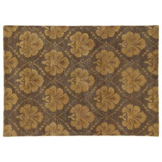Dynamic Rugs Opulence Collection Artsilk & Wool Hearth Rug Gold Brown   Hearth Rugs