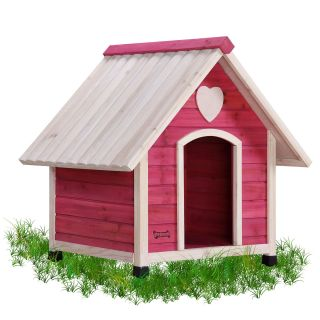 Pet Squeak Arf Frame Pink Princess Pad Dog House   Dog Houses