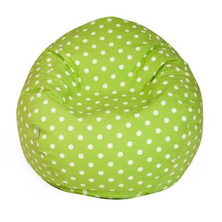 Majestic Home Goods Small Polka Dot Small Bean Bag   Bean Bags