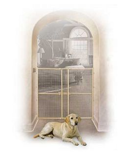 Wood/Mesh Pet Gate   Gates & Doors