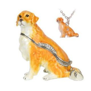 Golden Retriever Trinket Box   Trinket Boxes