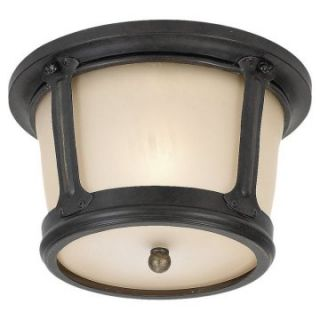 Sea Gull Cape May Outdoor Ceiling Light   7H in. Burled Iron   Outdoor Ceiling Lights