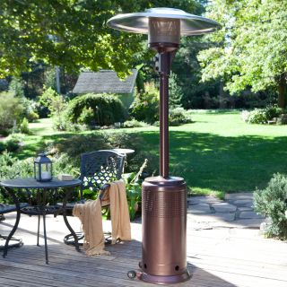 Fire Sense PRO Series Hammered Bronze Commercial Patio Heater 46k BTU   Patio Heaters