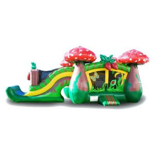 EZ Inflatables Strawberry Combo Bounce House   Commercial Inflatables