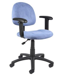 Boss Microfiber Deluxe Posture Chair with Adjustable Arms   Desk Chairs