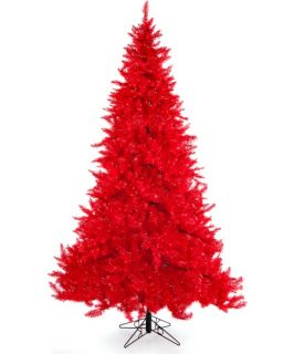 Ashley Red Pre lit Christmas Tree   Christmas Trees