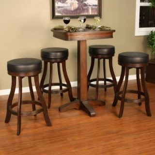 AHB Taylor 5 pc. Pub Table Set with 4 Backless Stools   Pub Tables