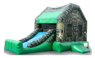EZ Inflatables Mini Camo Combo Bounce House   Commercial Inflatables