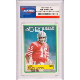 Joe Montana San Francisco 49ers 1983 Topps #169 Card