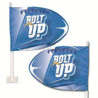 San Diego Chargers Bolt Up Football Shaped Car Flag