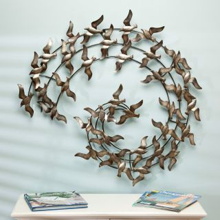 The Birds Iron Indoor/Outdoor Wall Sculpture   Outdoor Wall Art