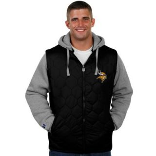 Pro Line Minnesota Vikings Big and Tall Midnight Stinger Hooded Jacket   Black