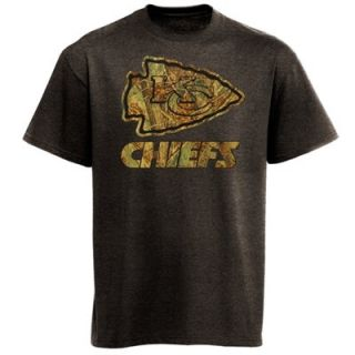 Majestic Kansas City Chiefs Camo T Shirt   Charcoal