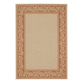 Capel Rugs Elsinore Scroll Indoor/Outdoor Area Rug   Potters Clay   Area Rugs
