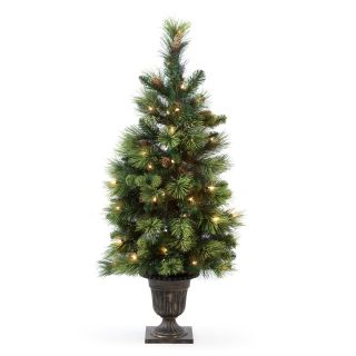 4 ft. Pre Lit Carolina Pine Entrance Tree   Artificial Christmas Trees