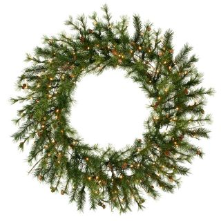 48 in. Mixed Country Pine Pre lit Christmas Wreath   Christmas Wreaths