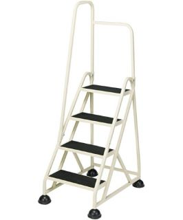 Cramer 4 Step Aluminum Ladder with Handrail   Ladders and Scaffolding