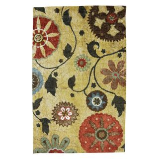 Mohawk Home Yellow Medallion Rug   Area Rugs