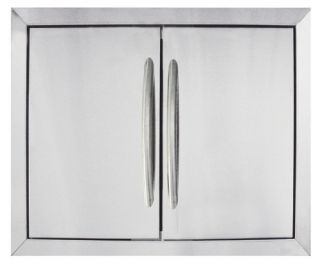 Napoleon Built In Stainless Steel Double Door Kit   37.25W x 20.25H in.   Outdoor Kitchens