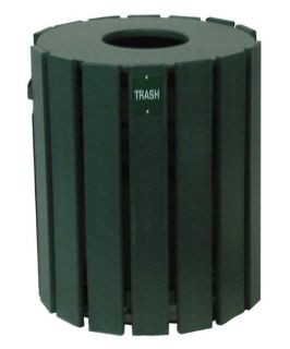 20 Gallon Cylinder Trash Receptacle   Trash Cans
