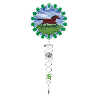 Iron Stop Animated Horse Crystal Twister   ACT240 4M   Wind Spinners