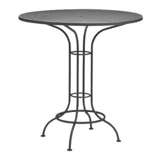 Woodard Commercial Grade Wrought Iron Bar Height Dining Table   Patio Tables