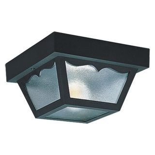 Sea Gull Outdoor 7569 Ceiling Light   5.5H in. Black   Outdoor Ceiling Lights