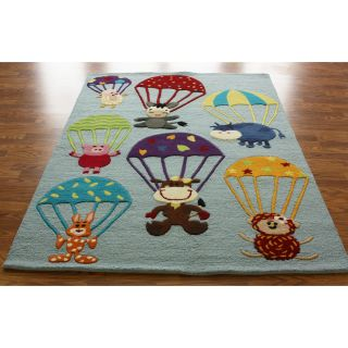 nuLOOM SEKD32A Air Safari Area Rug   Blue   3.5 x 5.5 ft.   Kids Rugs