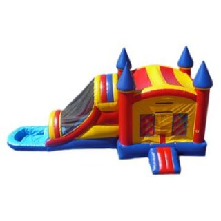 EZ Inflatables Castle Water Bounce House Combo   Commercial Inflatables