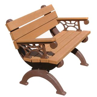 Monarque 4 ft. Commercial Grade Park Bench   Outdoor Benches