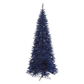 Vickerman Dark Blue Slim Fir Pre lit Christmas Tree   Christmas Trees