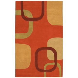 Surya Stella Smith STS 9007 Connect Rings Area Rug   Rust/Beige   Area Rugs