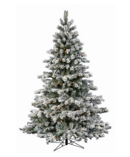 Flocked Aspen Pre lit LED Christmas Tree   Christmas