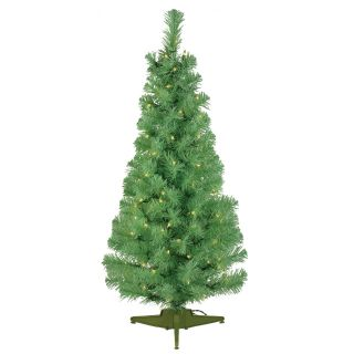 Apple Green Pre lit 7.5 ft. Pencil Pine Christmas Tree   Artificial Christmas Trees