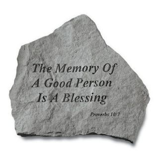 The Memory Of A Good Person Memorial Stone   Garden & Memorial Stones