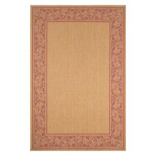 Trans Ocean Liora Manne Terrace Scroll Border Indoor/Outdoor Rug   Terra Cotta   Area Rugs
