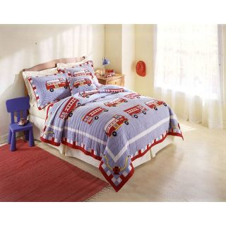 Pem America Fire Truck Bedding Set   Quilts & Coverlets