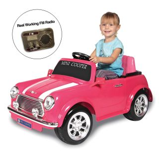 Kid Motorz Pink Mini Cooper Battery Powered Riding Toy   Battery Powered Riding Toys