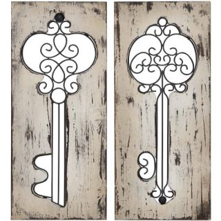 Wood and Metal Key Wall Art   Wall Sculptures and Panels