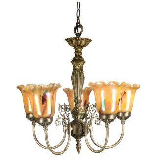 Dale Tiffany Columbus Tulip Fixture Pendant   Tiffany Ceiling Lighting