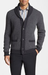 Lora Gi English Rib Shawl Collar Cardigan