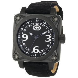 Marc Ecko Men's Black Leather Square Dial Watch Marc Ecko Men's Marc Ecko Watches