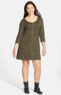 Jessica Simpson Rudy Leopard Print Dress (Plus Size)