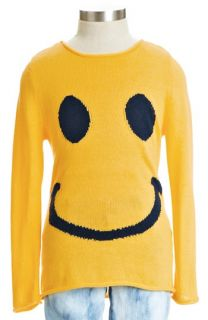 Peek Smile Roll Edge Sweater (Toddler Girls, Little Girls & 