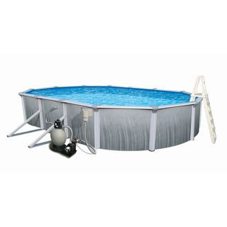Martinique 21' x 41' Oval Above ground Pool Swim Time Above Ground Pools