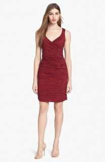 Calvin Klein Crinkled Taffeta Sheath Dress