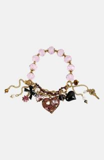 Betsey Johnson Iconic Pinkalicious Charm Stretch Bracelet